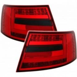 Audi A6 4F 04-08 LightBar galiniai žibintai raudoni tamsinti 7 kontaktai