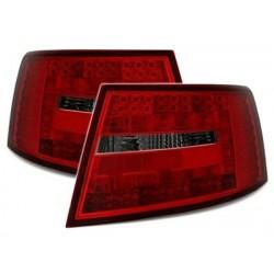 Audi A6 4F 04-08 LED galiniai žibintai raudoni tamsinti 6 kontaktai