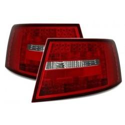 Audi A6 4F 04-08 LED galiniai žibintai raudoni balti 6 kontaktai