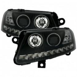 Audi A6 4F 04-08 LED CCFL angel eyes priekiniai žibintai juodi