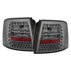 LED Galiniai žibintai skirti Audi A6 C5 Avant tamsinti (smoke)