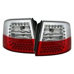 LED Galiniai žibintai skirti Audi A6 C5 Avant raudoni balti