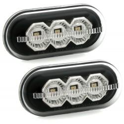 LED Šoninių posūkių komplektas skirtas Renault / Dacia juodi
