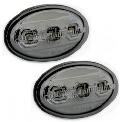 LED Šoninių posūkių komplektas skirtas Ford / Mazda skaidrūs tamsinti (smoke)