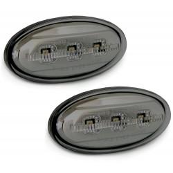 LED Šoninių posūkių komplektas skirtas Mazda 2 3 5 6 Skaidrūs tamsinti (smoke)