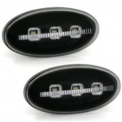 LED Šoninių posūkių komplektas skirtas Mazda 2 3 5 6 Skaidrūs juodi tamsinti (smoke)