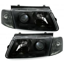 Priekiniai žibintai su lęšiu skirti VW Passat B5/3B šviesūs