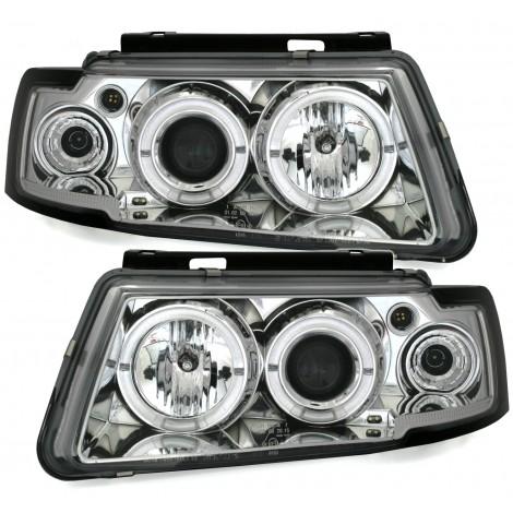 Angel eyes priekiniai žibintai skirti VW Passat B5/3B šviesūs