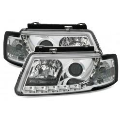 LED priekiniai žibintai skirti VW Passat B5/3B šviesūs