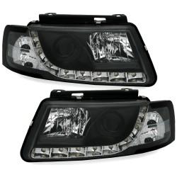 LED priekiniai žibintai skirti VW Passat B5/3B juodi