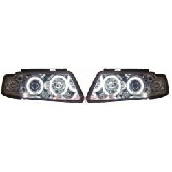 CCFL Angel eyes priekiniai žibintai skirti VW Passat B5/3B šviesūs
