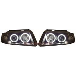 CCFL Angel eyes priekiniai žibintai skirti VW Passat B5/3B juodi
