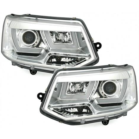 U-Tube priekiniai žibintai skirti VW T5 Facelift 09- šviesūs