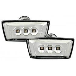 LED Šoniniai posūkiai skirti Opel Astra H  Corsa D  Insignia skaidrūs