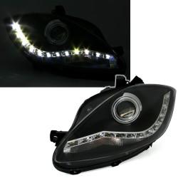LED priekiniai žibintai skirti Seat Altea + Leon + Tolego juodi