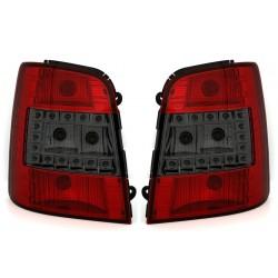 LED Galiniai žibintai skirti VW Touran 1T raudoni tamsinti