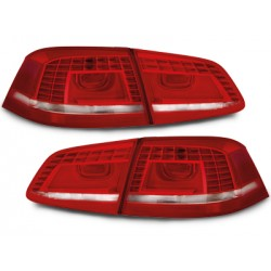 LED Galiniai žibintai skirti VW Passat B7/3C raudoni balti