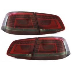 LED Galiniai žibintai skirti VW Passat B7/3C raudoni tamsinti