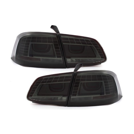 LED Galiniai žibintai skirti VW Passat B7/3C tamsinti (smoke)