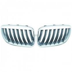 Priekinės grotelės be ženklo skirtos BMW X5 E53 chromuotos