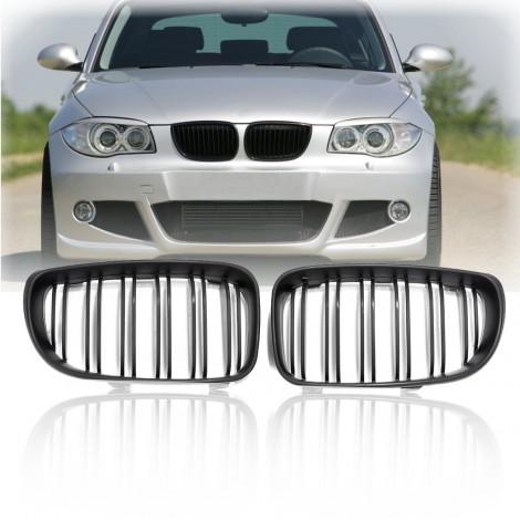 Priekinės grotelės be ženklo skirtos BMW 1 E87 juodos
