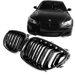 Priekinės grotelės be ženklo skirtos BMW 5 E60/E61 juodos lakuotos