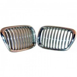 Priekinės grotelės be ženklo skirtos BMW 5 E39 chromuotos