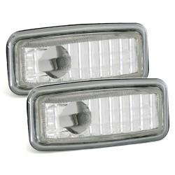 LED Šoninių posūkių komplektas skirtas Mercedes W124 W140 W201 W202 R129 skaidrūs