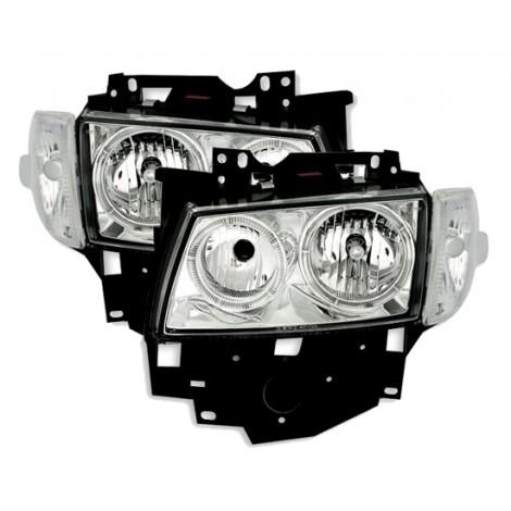 Angel eyes priekiniai žibintai skirti VW T4 šviesūs