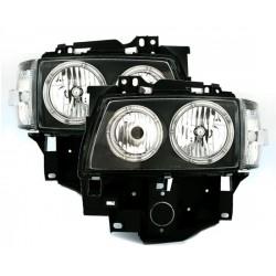 Angel eyes priekiniai žibintai skirti VW T4 juodi