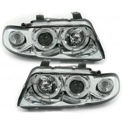 Angel eyes priekiniai žibintai skirti Audi A4 B5 šviesūs