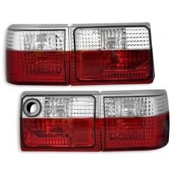 Galiniai žibintai skirti Audi 80 raudona balta