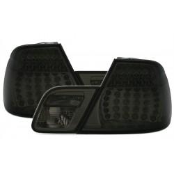 LED Galiniai žibintai skirti BMW 3 E46 Coupe tamsinti (smoke)