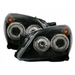 Angel eyes priekiniai žibintai skirti Opel Astra H juodi