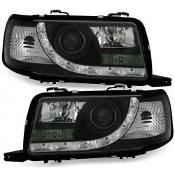 LED priekiniai žibintai skirti Audi 80 B4 juodi