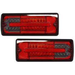 LED galiniai žibintai skirti MB G-Class W463 raudona tamsinta