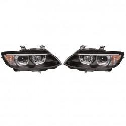 Angel eyes XENON priekiniai žibintai skirti BMW 3 E92 juodi su AFS