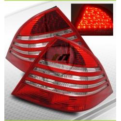 LED galiniai žibintai skirti MB S-Class W220 raudona balta