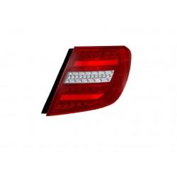LED galiniai žibintai skirti MB C-Class S204 T-Modell raudona balta