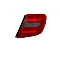 LED galiniai žibintai skirti MB C-Class S204 T-Modell raudona tamsinta