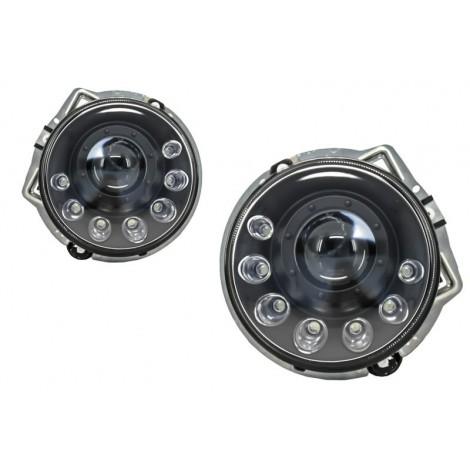 Priekiniai žibintai skirti MB G-Class W463 Black Bi-Xenon tipo juodi