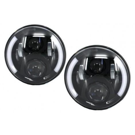7 colių CREE LED priekiniai žibintai skirti MB W463 Jeep Wrangler Land Rover Defender