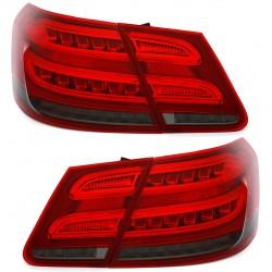 LightBar + LED galiniai žibintai skirti MB E-Class W212 Facelift tipo raudona tamsinta