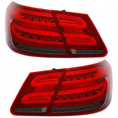 LightBar + LED galiniai žibintai skirti MB E-Class W212 Facelift tipo raudona balta