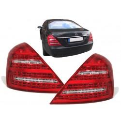 LED galiniai žibintai skirti MB S-Class W221 raudona balta