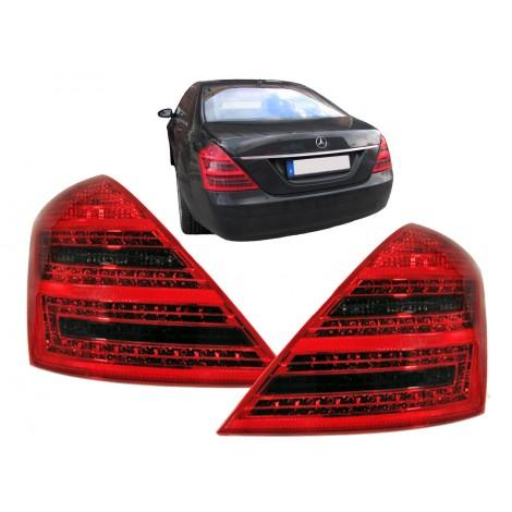 LED galiniai žibintai skirti MB S-Class W221 raudona tamsinta
