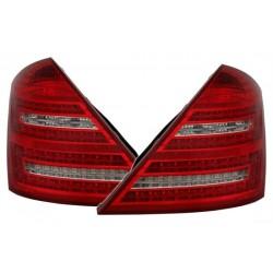 DEPO LED galiniai žibintai skirti MB S-Class W221 raudona balta