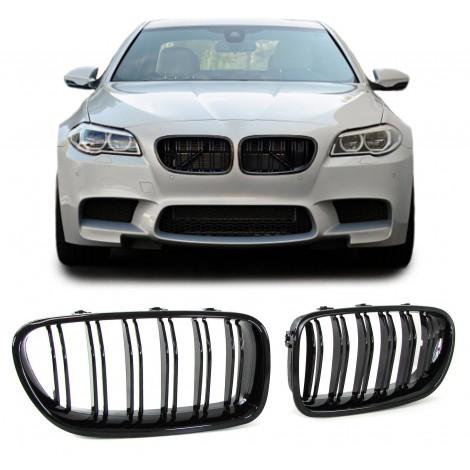 Priekinės grotelės M tipo skirtos BMW 5 F10 F11 juodos lakuotos