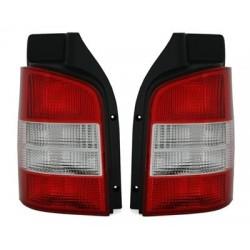 Galiniai žibintai skirti VW T5 raudona balta