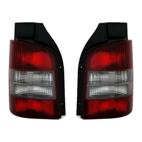 Galiniai žibintai skirti VW T5 raudona tamsinta